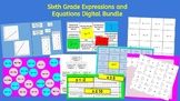 6th Grade Expressions and Equations Digital Bundle