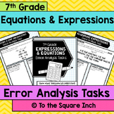 Expressions and Equations Error Analysis