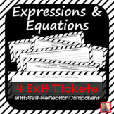 Expressions and Equations Exit Slips