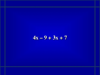 Expressions and Equations Jeopardy® Game