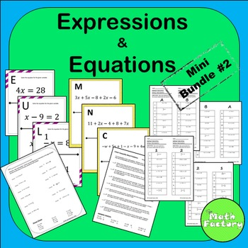 Expressions and Equations Mini Bundle #2