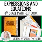 Expressions and Equations Mini Tabbed Flip Book for 8th Grade Math