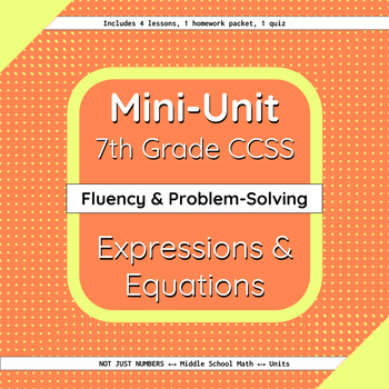 Expressions and Equations Mini-Unit