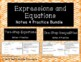 Expressions and Equations Notes and Practice Resources Bundle