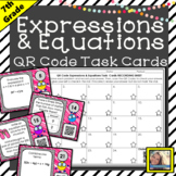 Expressions and Equations QR Code Task Cards