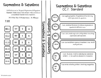 Expressions and Equations Reflection 7