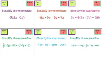 Expressions and Equations Review Activity ~ 7th Grade Math