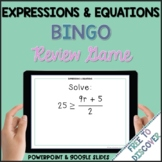 Expressions and Equations Review Game | Distance Learning