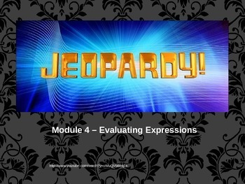 Expressions and Order of Operations Review Jeopardy Game