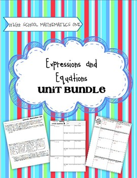 Expressions and Equations - Secondary One Unit Bundle