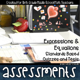 Expressions and Equations Math Review Standards Assessments & Item Analysis