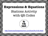 Expressions and Equations Stations with QR Codes