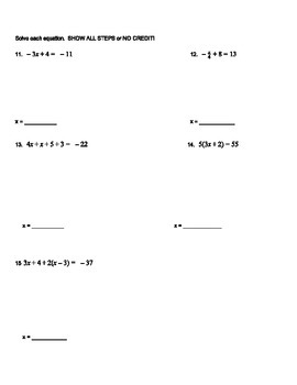 Expressions and Equations Study Guide