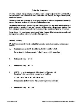 Expressions and Equations Tic Tac Toe Assessment