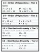 Expressions and Equations Tiered Task Cards and Activities