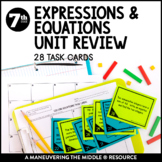 Expressions and Equations Unit Review: Task Cards