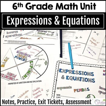 Expressions and Equations Unit for 6th Grade