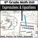 6th Grade Math Expressions and Equations Curriculum Unit, Editable
