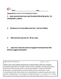 Expressions and Equations Word Problems Common Core Math W