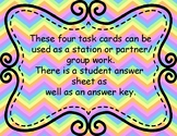 Expressions and Equations Word Problems Task Cards