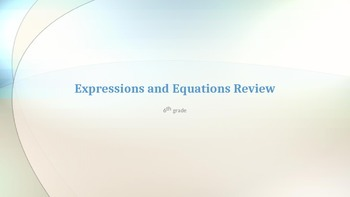 Expressions and Equations review