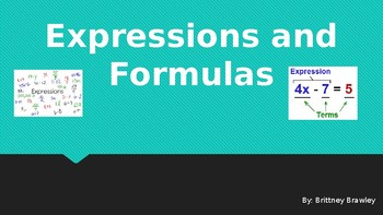 Expressions and Formulas