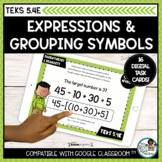 Expressions and Grouping Symbols | Boom Cards Math Distanc