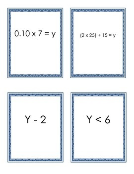 Expressions and Inequalities Word Problems