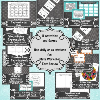Expressions and One-Step Equations-(6th Grade MathTEKS 6.7A-D, 6.9A-C, &6.10A-B)