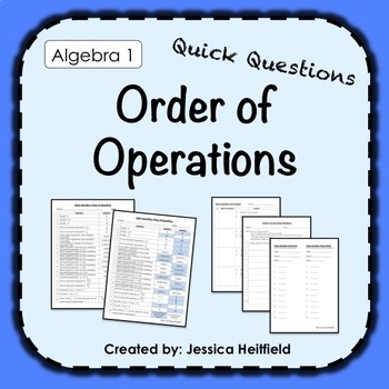 Order of Operations Activity: Fix Common Mistakes!