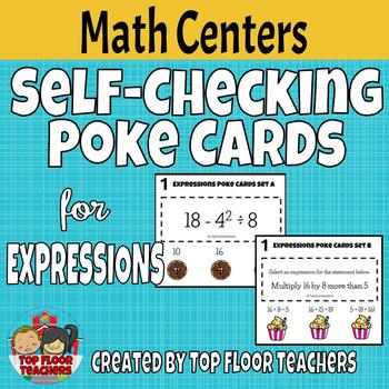 Expressions and Order of Operations Poke Cards
