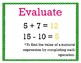 Expressions and Patterns 5th Grade My Math Vocabulary Posters
