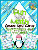 Expressions and Variables Fun with Math Center Task Cards