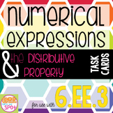 Expressions and the Distributive Property Task Cards CCSS