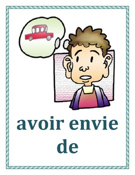 Expressions avec avoir French verb Posters