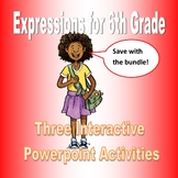 Expressions for Sixth Grade Bundle