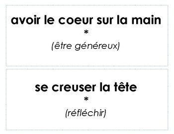 Expressions idiomatiques - version 1