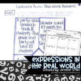 Expressions in the Real World Lesson for Interactive Notebooks