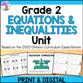Expressions & Equality Unit for Grade 2 (Ontario Curriculum)
