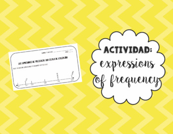 Scale Activity: Expressions of Frequency