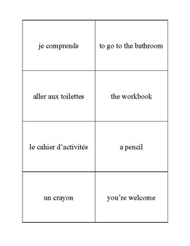 Expressions pour la classe de français - French classroom expressions