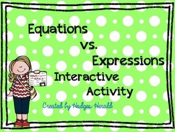 Expressions vs. Equations Interactive Activity
