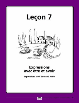 French Expressions with Etre and Avoir Song and Writing Activities