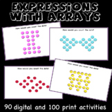 Expressions with arrays, multiplication, division, properties, mental math