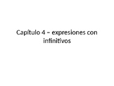 Expressions with infinitives practice powerpoint