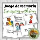 Expressions with tener memory game