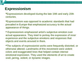 Expressionsm Art PowerPoint