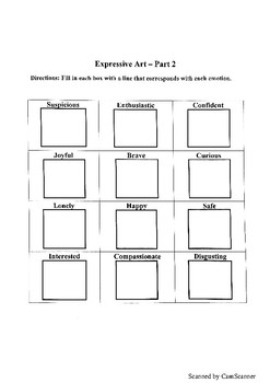 Expressive Art Worksheets