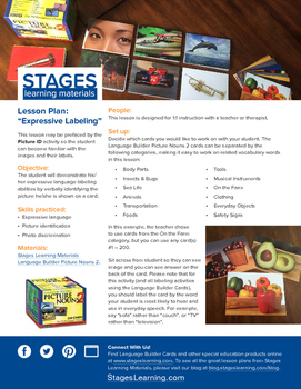 Expressive Labeling Lesson Plan