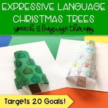Pop Up Speech Christmas Trees: Expressive Language Craft